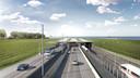 Visualisatie van de tunnel zoals deze er in 2029 zal bijliggen.