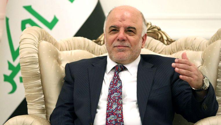 Haidar al-Abadi, de eerste minister van Irak. Beeld afp