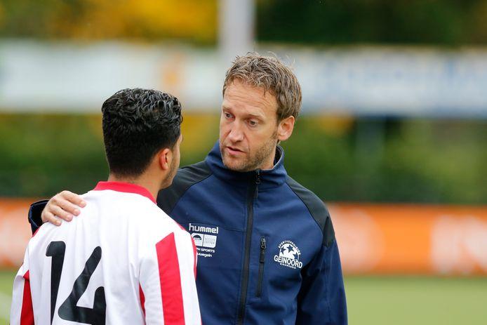 David Toxopeus, hier actief als trainer van Geinoord, krijgt een mooie functie bij profclub Feyenoord.