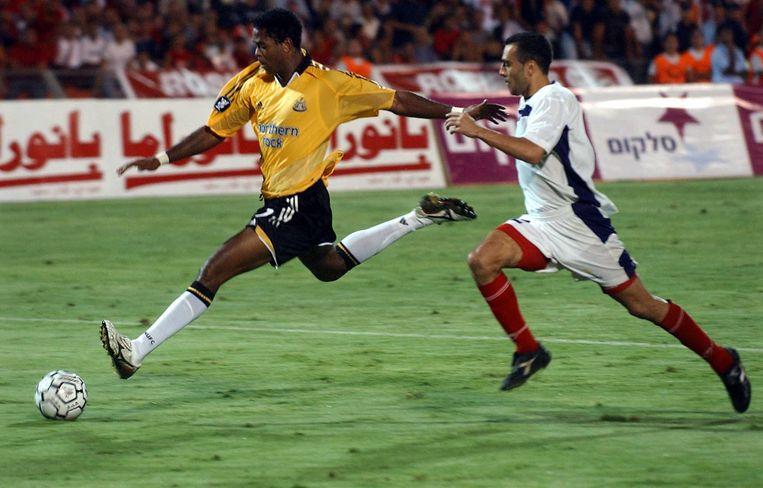 Kluivert in het shirt van Newcastle United. Beeld ANP