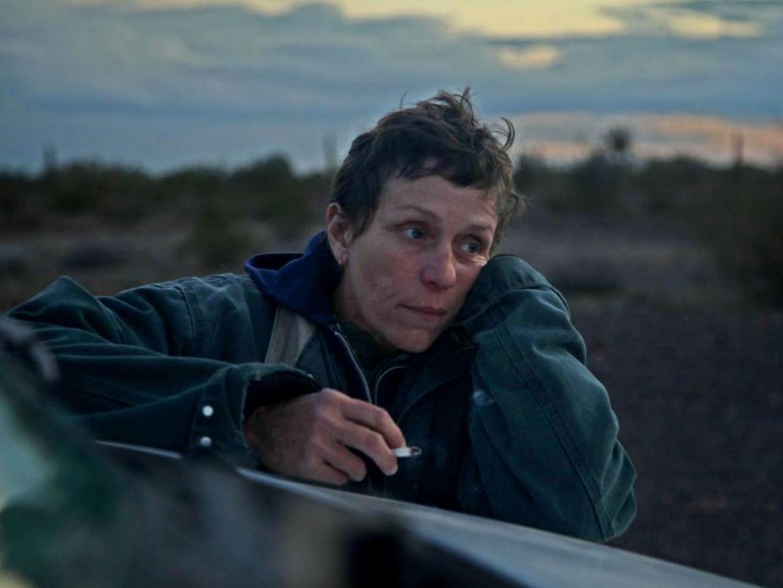 Frances McDormand in 'Nomadland' Beeld