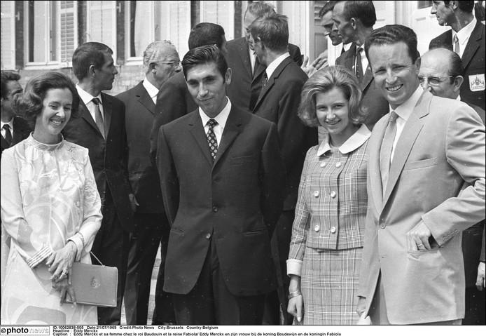 Eddy Merckx et sa femme chez le roi Baudouin et la reine Fabiola