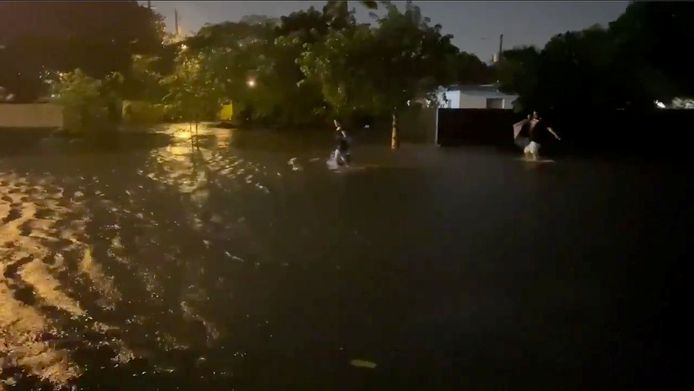 Eta veroorzaakte al overstromingen in Fort Lauderdale in de staat Florida.