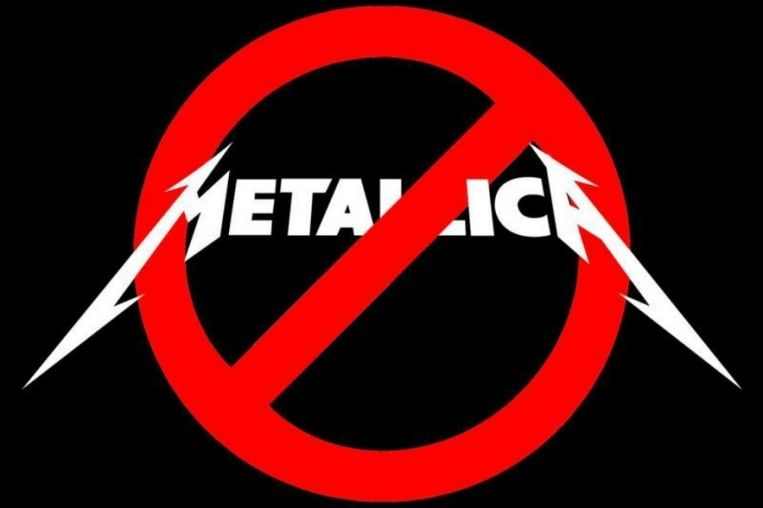 'Remove Metallica From Glastonbury'-logo Beeld Screenshot