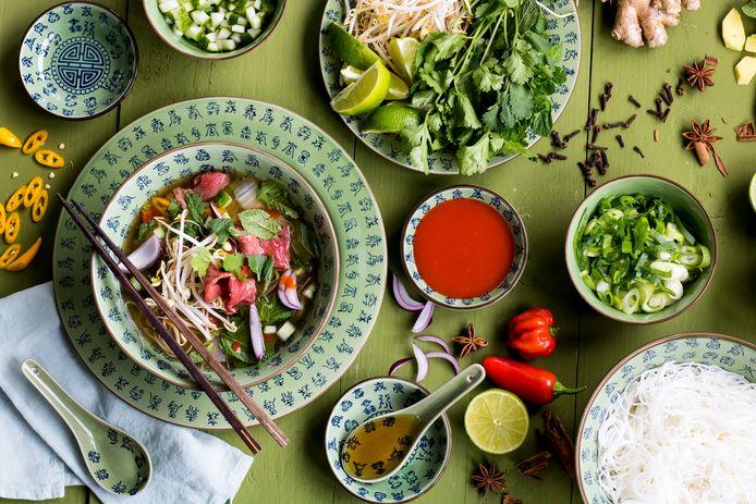 Beef pho is een heerlijke noedelsoep uit Vietnam.