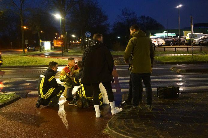 De brandweer schoot te hulp bij een ongeval in Bunschoten.