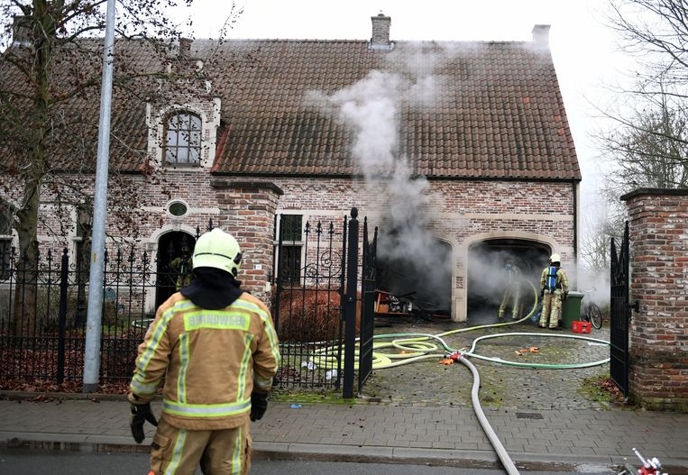 Woningbrand in de Puttebroekstraat in Wilsele.
