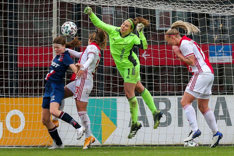 Alleen Ajax en PSV kunnen hun speelsters een voltijdcontract aanbieden. Beeld Pro Shots / Remko Kool