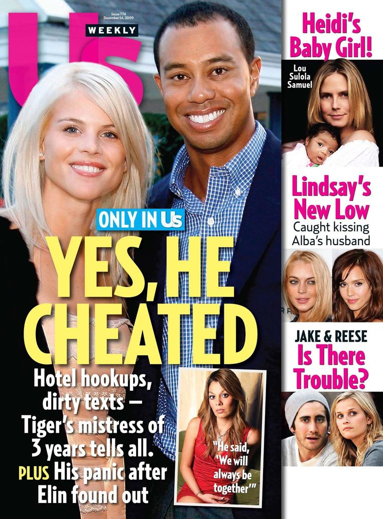 'Tiger Gate' op de cover van roddelblad US Weekly. Beeld null