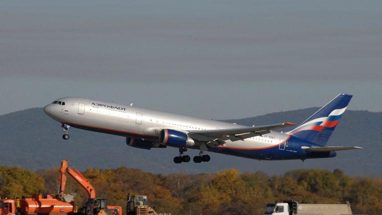 Een Boeing 767-300 van Aeroflot. Beeld REUTERS