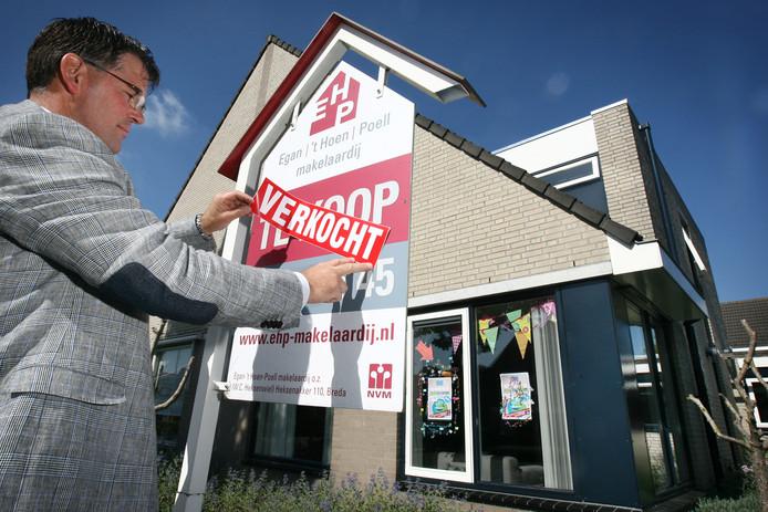 Het aantal nog te koop staande woningen in Breda is naar een historisch laag peil gezakt.