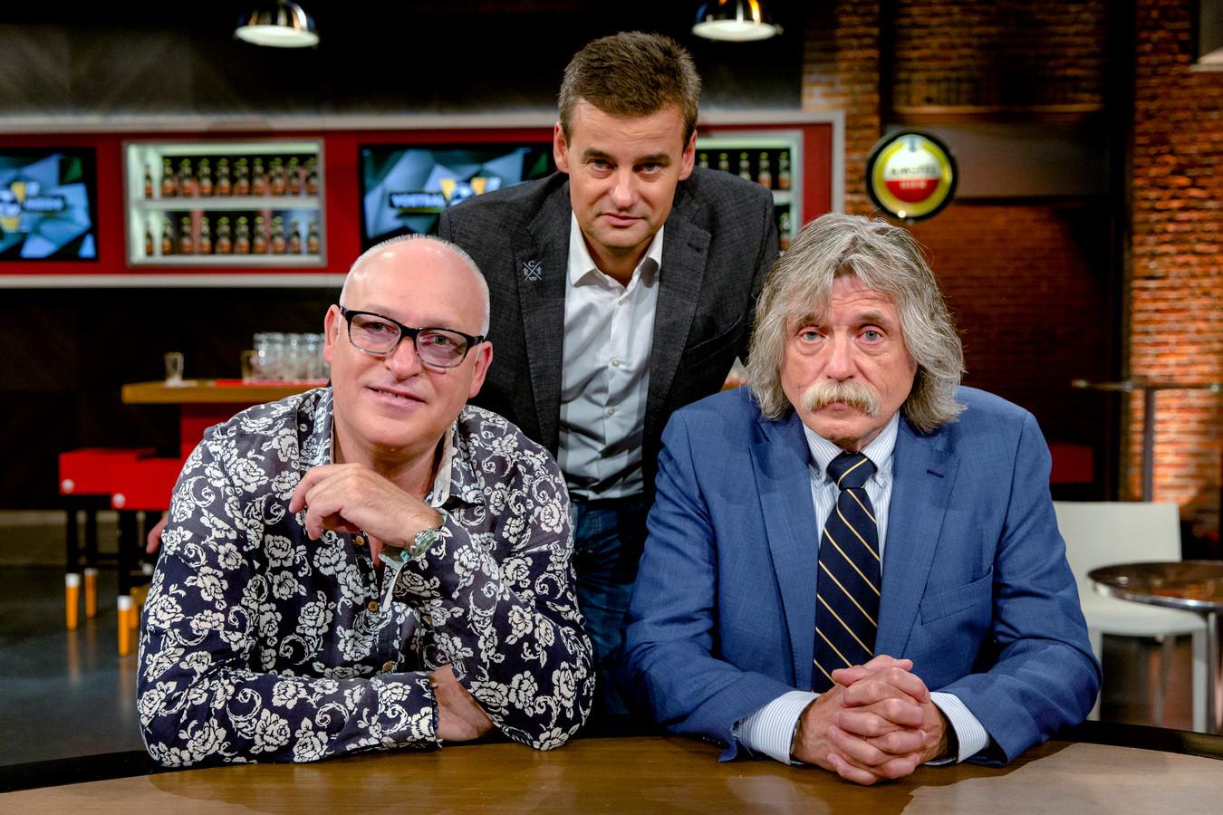 Rene van der Gijp, Wilfred Genee en Johan Derksen.