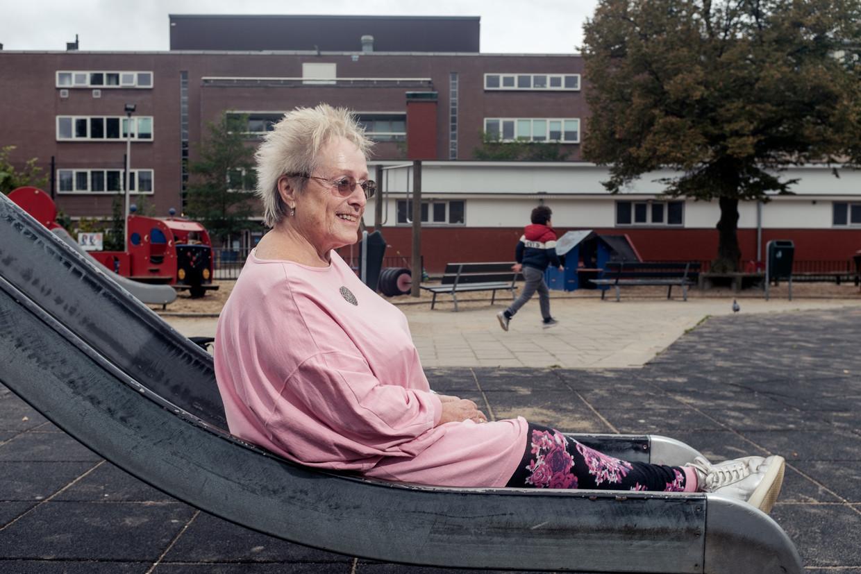 Miriam van Aller (77), vertrekkend voorzitter van de speeltuinvereniging.