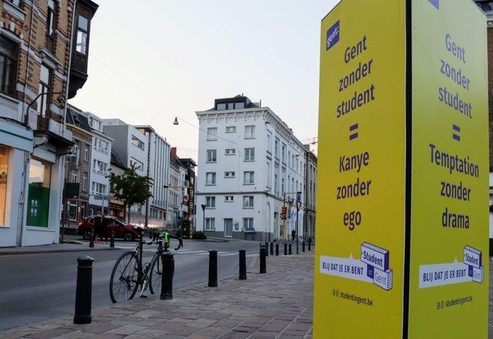 Tot nu toe heerste enkel een mondmaskerplicht in het centrum van Gent, enkele drukke aders en de studentenbuurt (foto).