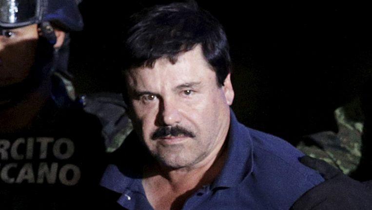 Joaquin Guzman, beter bekend als 'El Chapo', bij zijn arrestatie op 8 januari 2016. Beeld REUTERS
