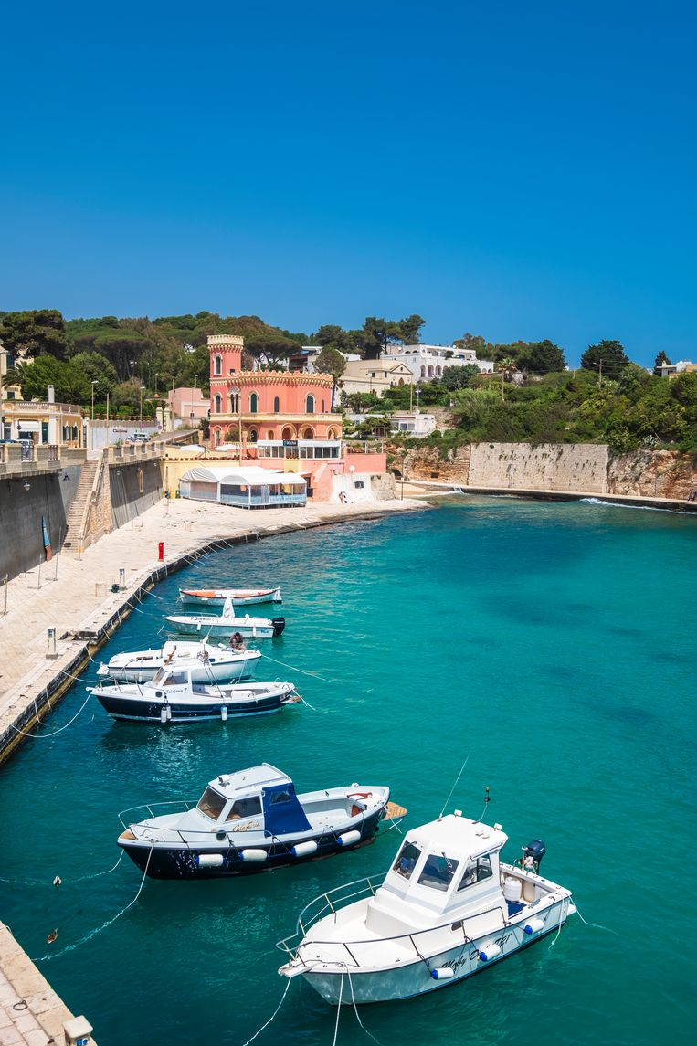 Een lege jachthaven in Tricase, in Basso Salento. Beeld hemis.fr via AFP