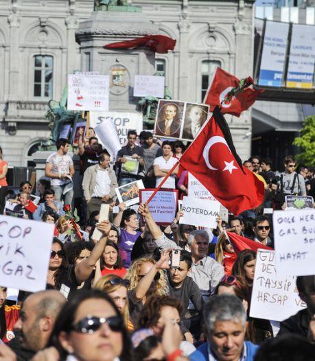 Manifestation à Bruxelles contre la répression d'Erdogan en Turquie