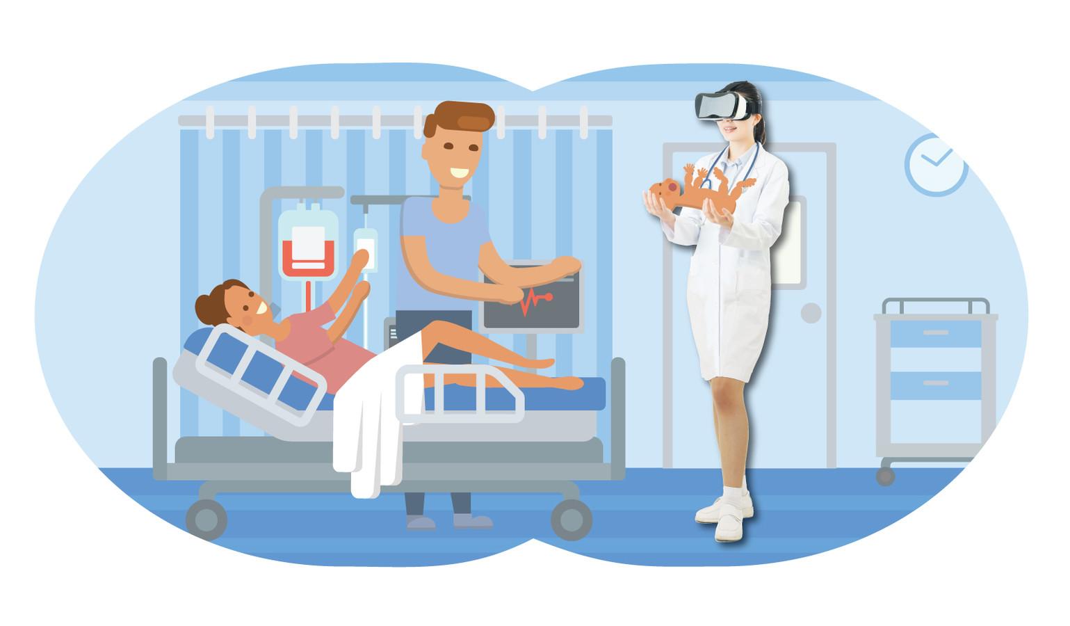 Medewerkers kunnen in virtual reality echte situaties oefenen.
