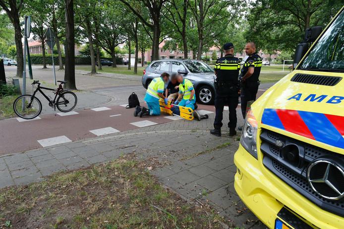 Aanrijding op de Roostenlaan in Eindhoven.