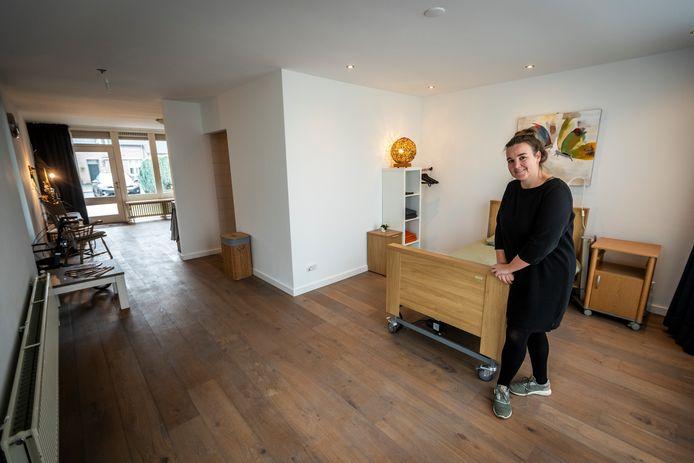 Karin Huijgens uit Lieshout heeft een tijdelijk zorghuis geopend.