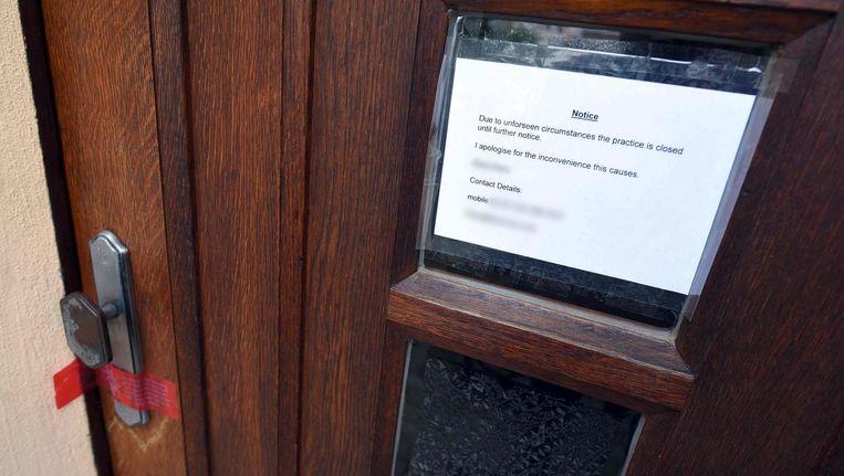 De kliniek van Klaus Ross is voorlopig gesloten. Beeld afp