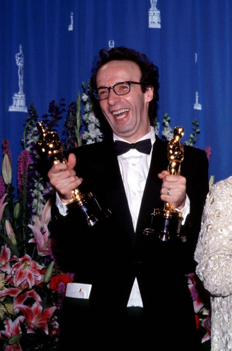 Roberto Begnini werd de eerste acteur die Beste acteur won voor een niet-Engelstalige film. Beeld UNKNOWN