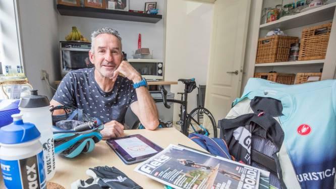 Piet van Dijke uit Tholen fietst tienduizenden kilometers per jaar; zijn wielrenfiets is nooit ver weg