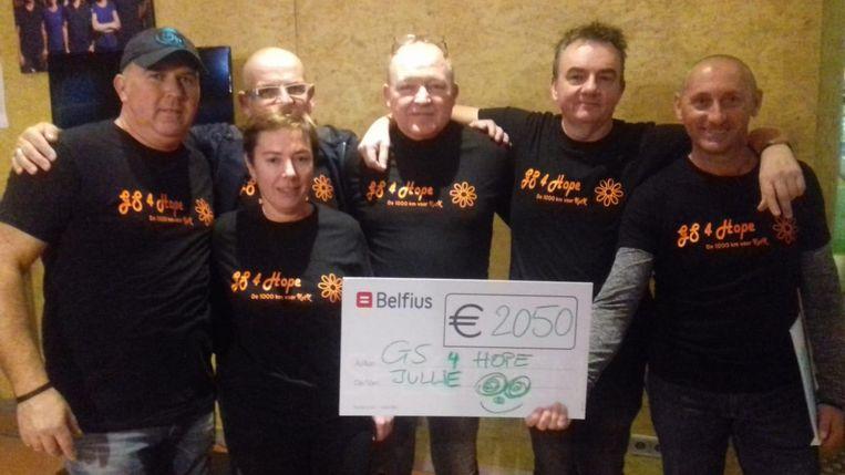 GS4Hope organiseerde een spinningmarathon ten voordele van Kom op tegen Kanker