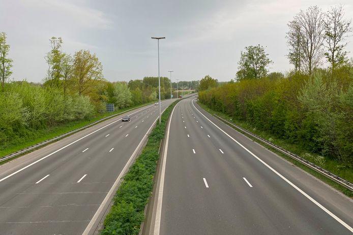 Halverwege april was er 's ochtends nauwelijks verkeer op de E40.