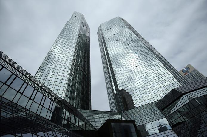 Hoofdkantoor van de Deutsche Bank in Frankfurt.