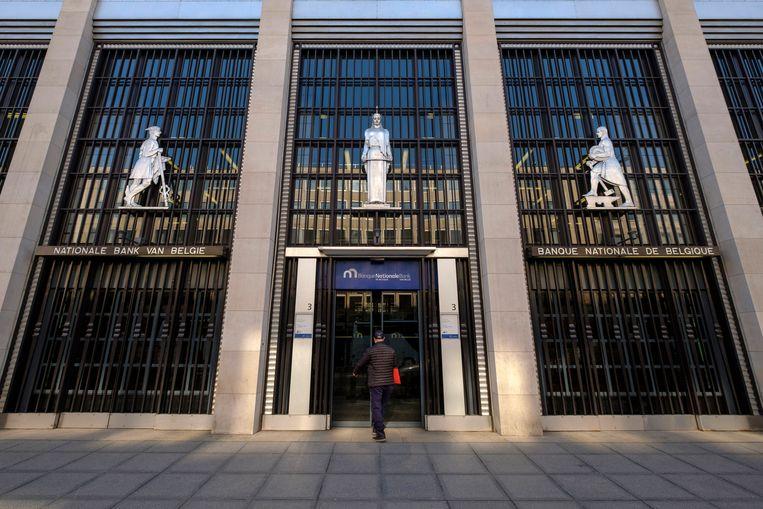 De Nationale Bank in Brusssel. (Archieffoto) Beeld Photo News