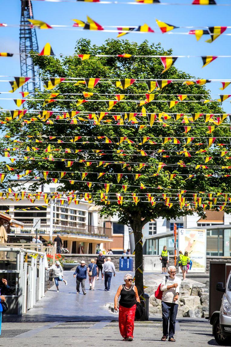 In de Kadzand-Bonenstraat hangen vlagjes.