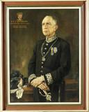 Burgemeester Moonen, geschilderd door de Waalwijkse kunstenaar Theo van Delft.
