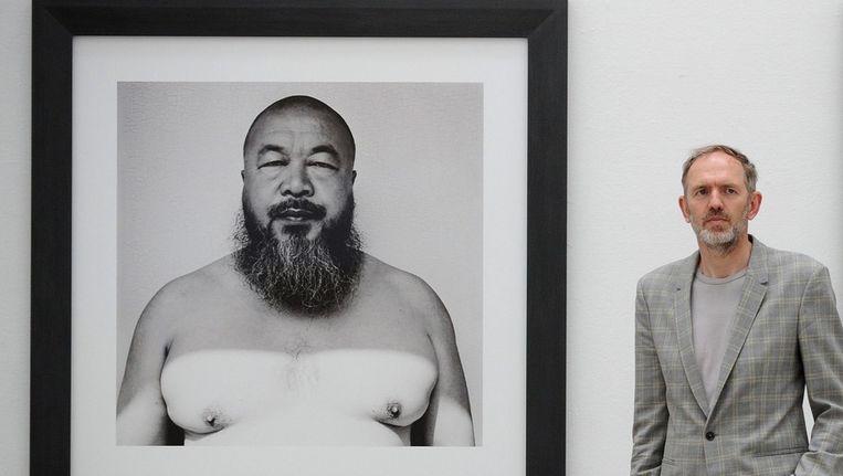 Anton Corbijn, hier voor zijn portret van Ai Weiwei, stelt momenteel tentoon in Bochum. Beeld EPA