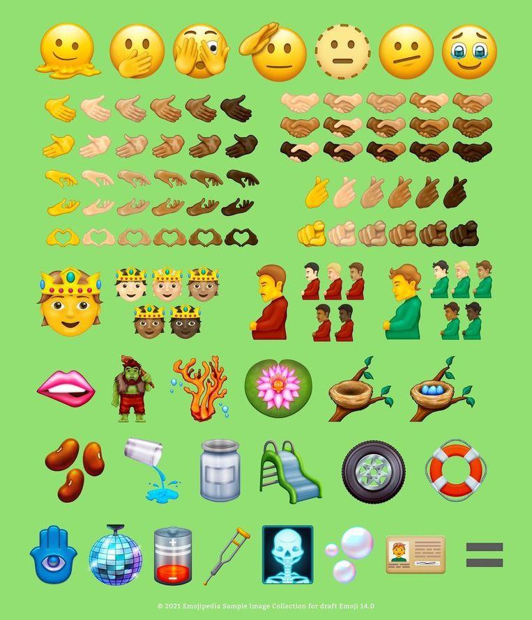 De nieuwe emoji voor 2021. Beeld Unicode Consortium