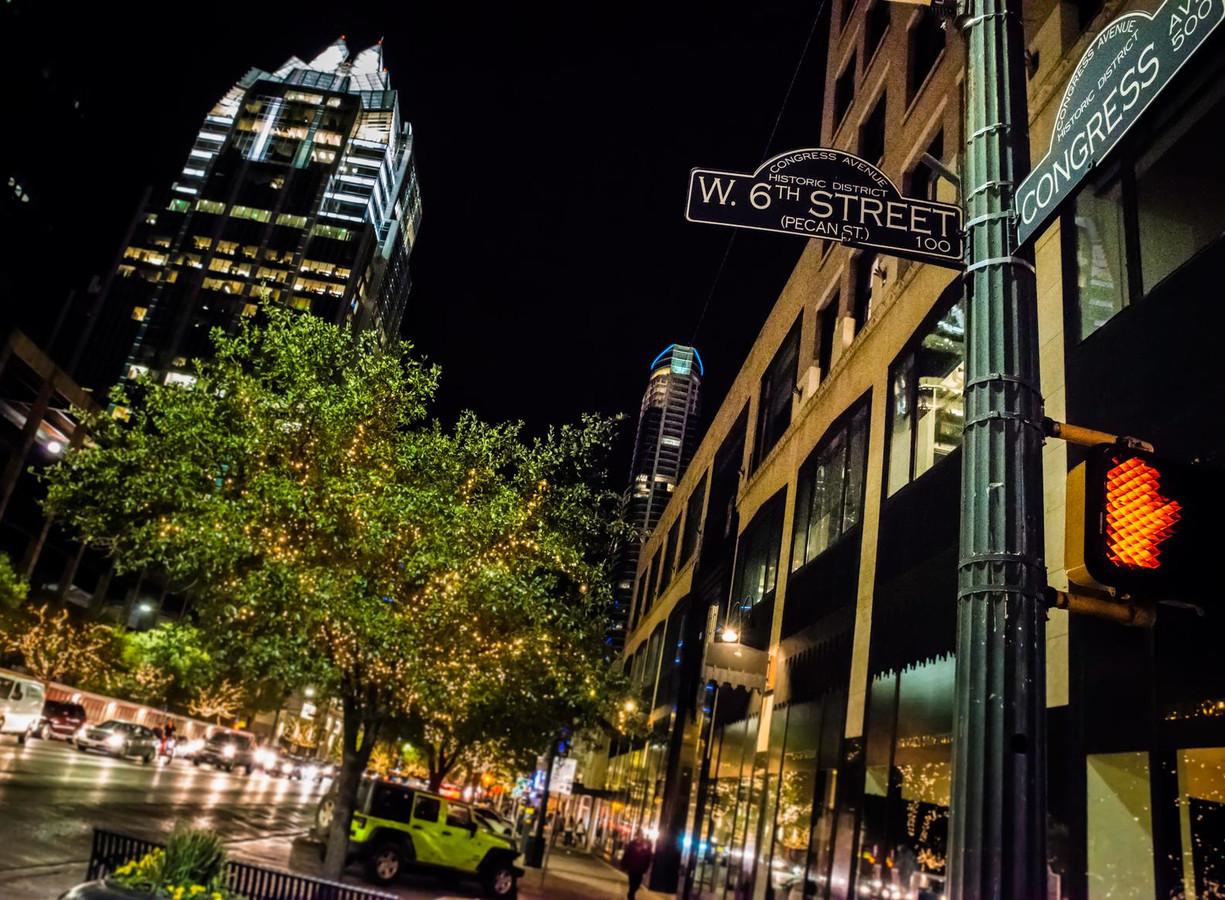 Austin by night.