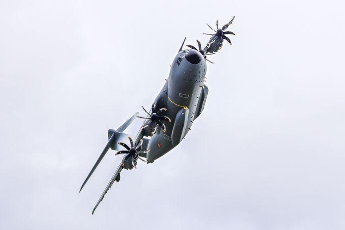 Foto ter illustratie: Het leger oefent gans het jaar met de A400M vliegtuigen in Schaffen.