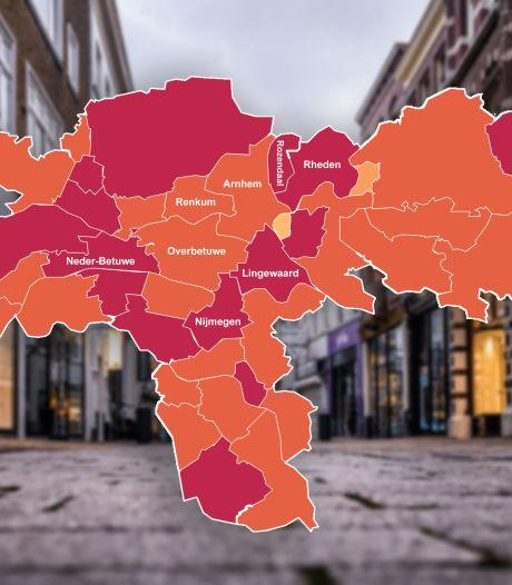 KAART | Corona sloeg hard toe in de regio Arnhem, check hier de totaalcijfers van jouw gemeente