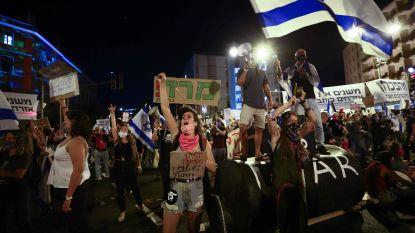 Duizenden Israëliërs op straat tegen premier Netanyahu ondanks coronamaatregelen
