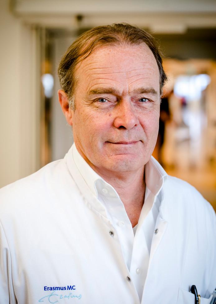 Casper van Eijck in het Erasmus Medisch Centrum.
