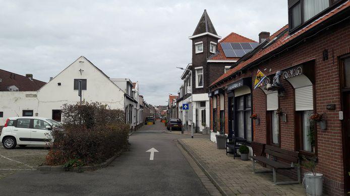Donze Visserstraat in de binnenstad van Terneuzen.
