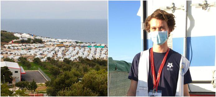Job Scheurink (23), arts in opleiding uit Hengelo, werkte vier weken in vluchtelingenkamp Moria op Lesbos