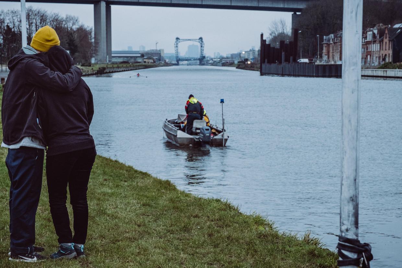 Zoekactie naar Frederik Vanclooster in Vilvoorde. Beeld Wouter Maeckelberghe