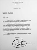 De brief van Obama