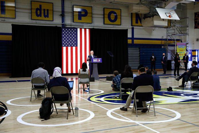 Biden kondigde begin deze week aan dat hij omwille van de coronapandemie geen verkiezingsmeetings meer zal houden.