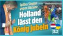 'Nederland laat de koning juichen', kopt de Duitse krant Bild.