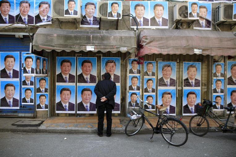 Overal Xi is in China alomtegenwoordig, dus ook op de billboards. Beeld reuters