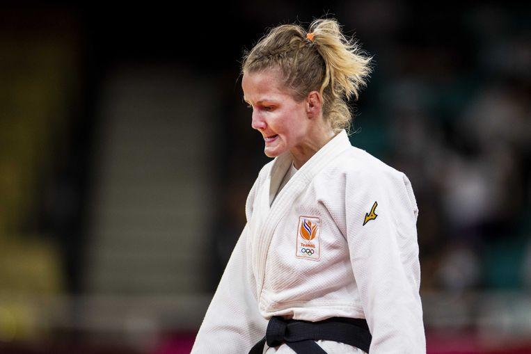 Juul Franssen na haar nederlaag in de strijd om brons. Beeld ANP