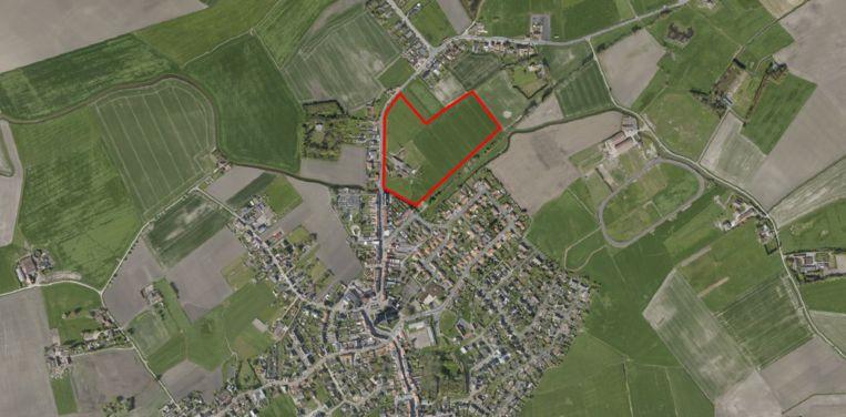 Net buiten het centrum van Leffinge kunnen op termijn ruim 80 nieuwe woningen komen.