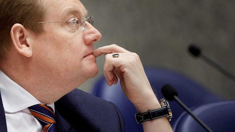 Minister Ard van der Steur van veiligheid en justitie tijdens het terrorismedebat Beeld anp
